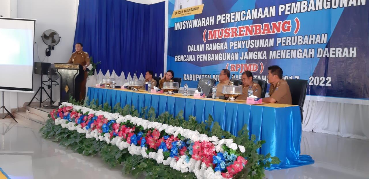 Gelar Musrembang Penyusunan Perubahan RPJMD 2017-2022, Rajiun Paparkan Keberhasilan Pimpin Mubar