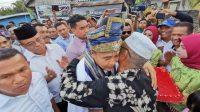 Kunjungi Basis RE2P di Sumur Bata, Rajiun Disambut Teriakan Inilah Pemimpin Muna Masa Depan