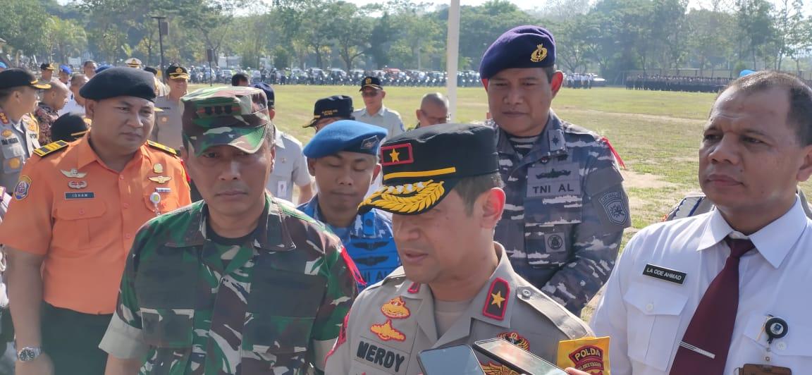 Polda Sultra Gelar Apel Pasukan Operasi Lilin Anoa 2019