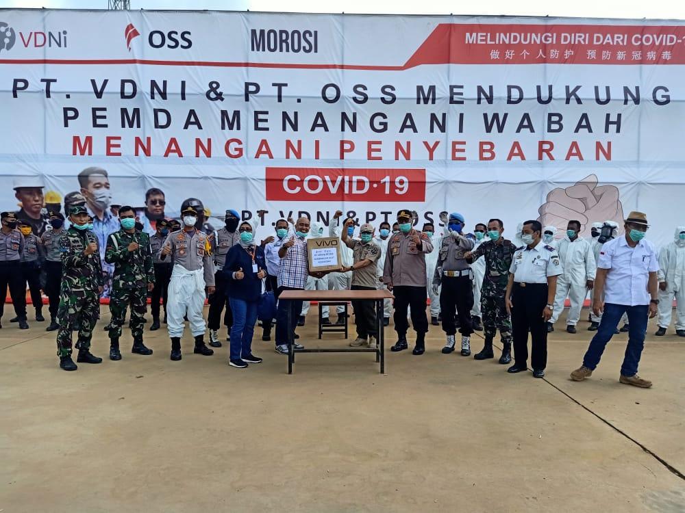 PT VDNI Kembali Serahkan Bantuan Penanganan Covid-19