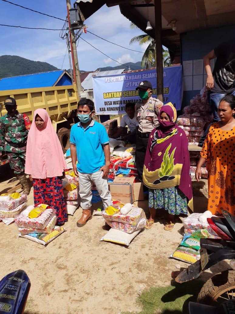 PT PKS Salurkan Bantuan Terhadap Warga Sekitar Lokasi Tambang