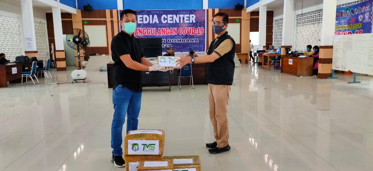 PT Tonia Salurkan Bantuan APD ke Gugus Tugas Covid19 Bombana