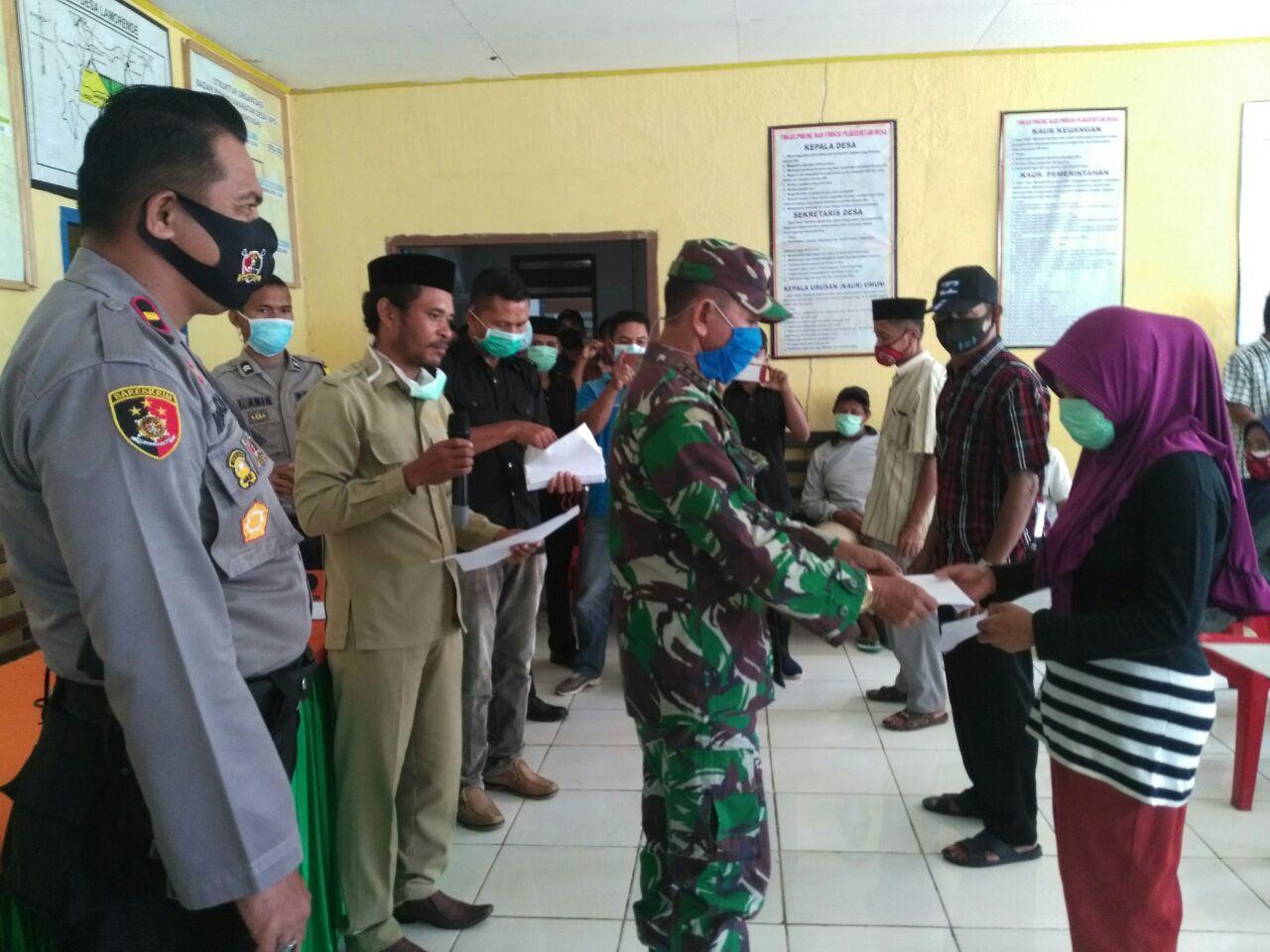 Tripika Tongkuno Salurkan BLT kepada 89 KK di Desa Danagoa