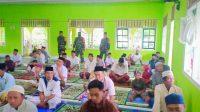 Pantau Pelaksanaan Sholat Ied, Babinsa Koramil Tikep Imbau Masyarakat Patuhi Protokol Kesehatan