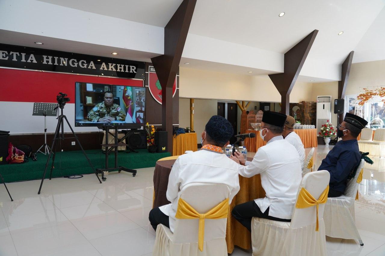 Pangdam Hasanuddin Silaturahmi Secara Virtual dengan Prajurit dan Tenaga Medis