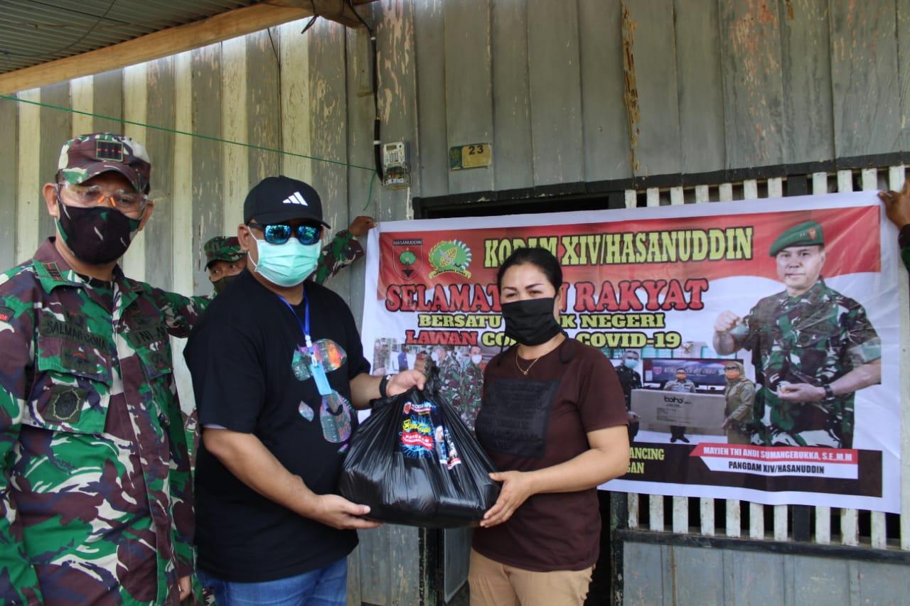 Pangdam Hasanuddin Bantu 400 Kk Terdampak Covid19 dan Kurang Mampu di Konawe