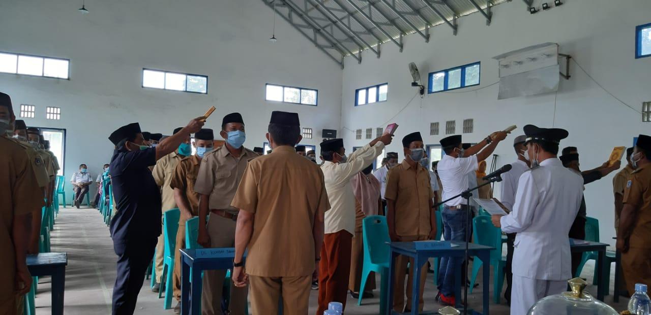 39 Perangkat Desa di Kecamatan Maginti Resmi Dilantik, Ini Pesan Camat