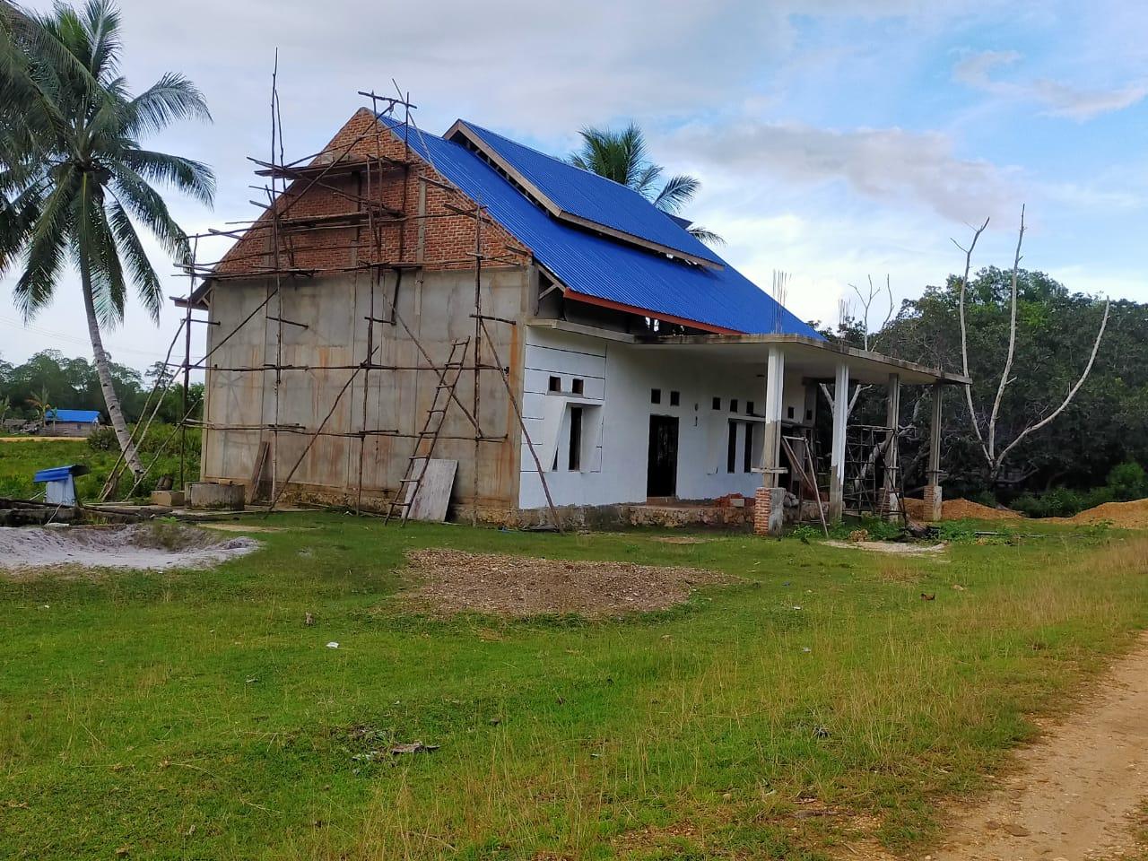 Anggaran Habis, Gedung Serbaguna Desa Baho Puuwulu Baru Rampung 70 persen