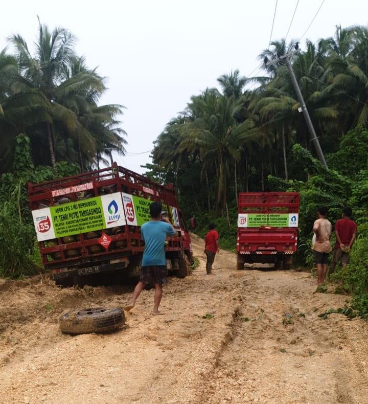 Jalan Provinsi di Konkep Rusak Parah Distribusi LPG Terhambat