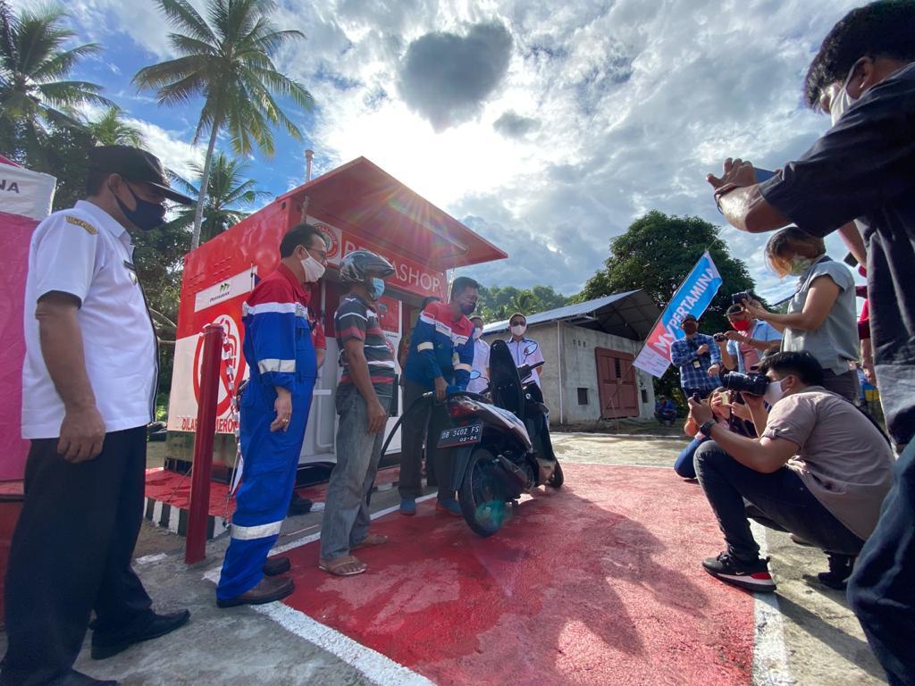 Pertashop Pertama di Pulau Sulawesi Resmi Mulai Beroperasi