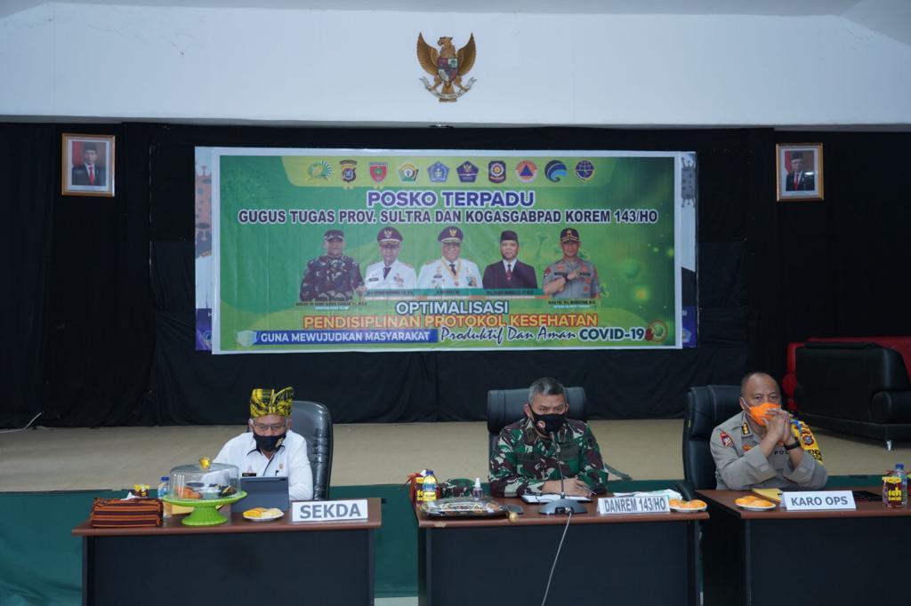 Pangdam Hasanuddin Gelar Webinar bersama Forkopimda Sultra