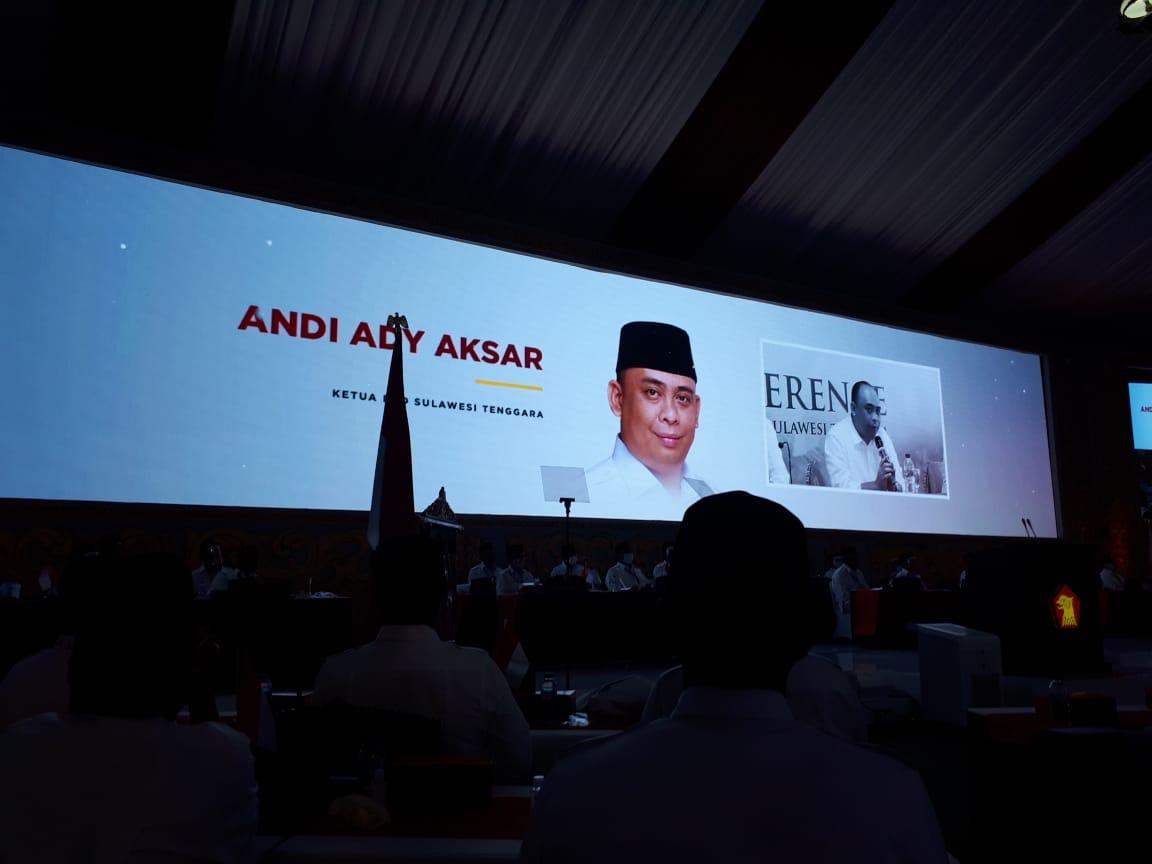 Andi Ady Aksar Diperkenalkan di Kongres Luar Biasa Partai Gerindra