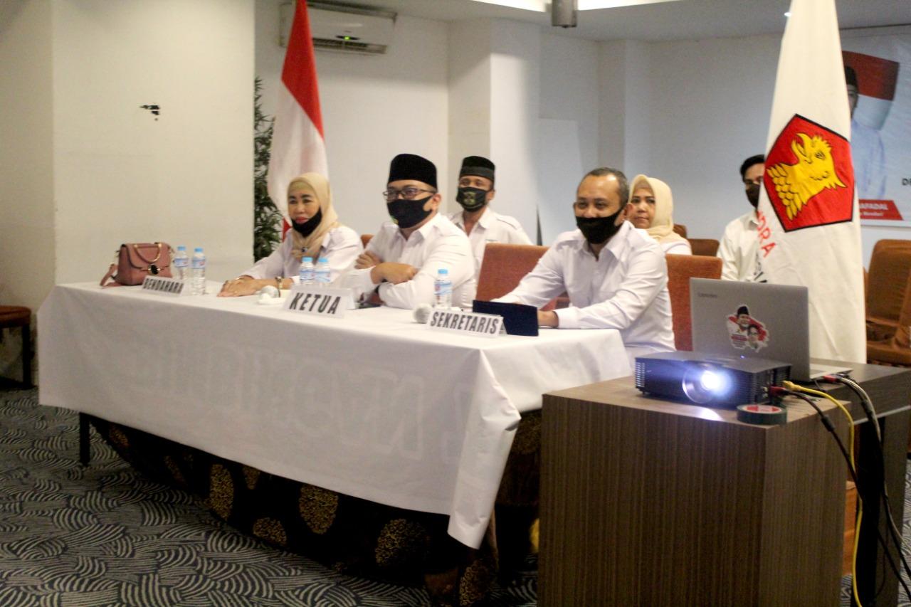 DPC Gerindra Kota Kendari Ikuti KLB Secara Virtual
