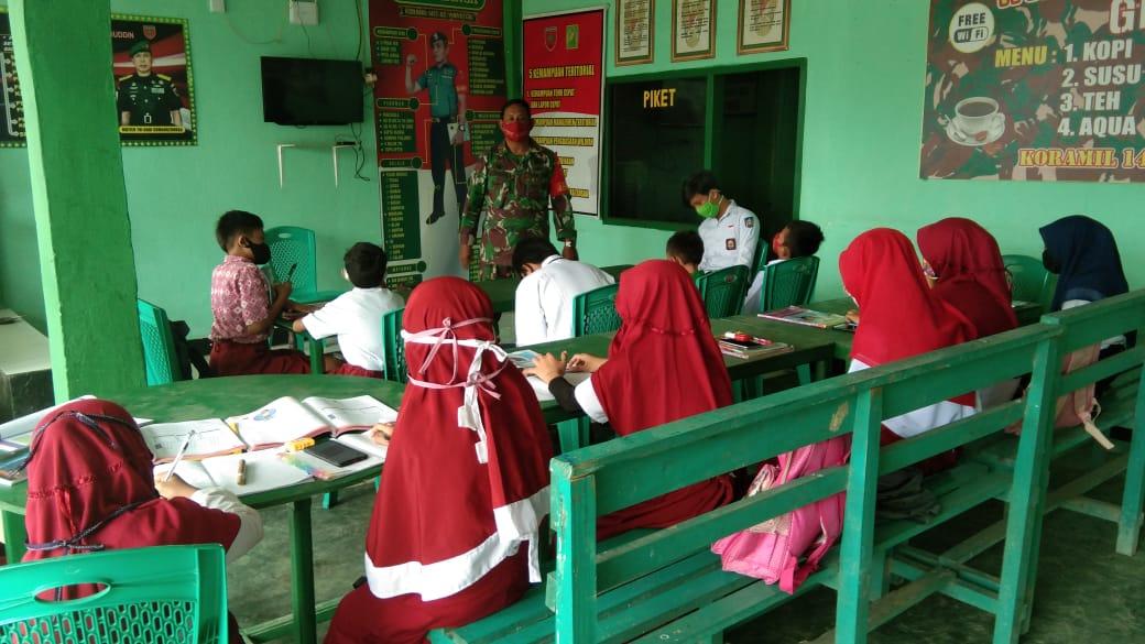 TNI Bantu Pelajar di Konawe, Sediakan Internet Gratis di Masa Pandemi Covid19