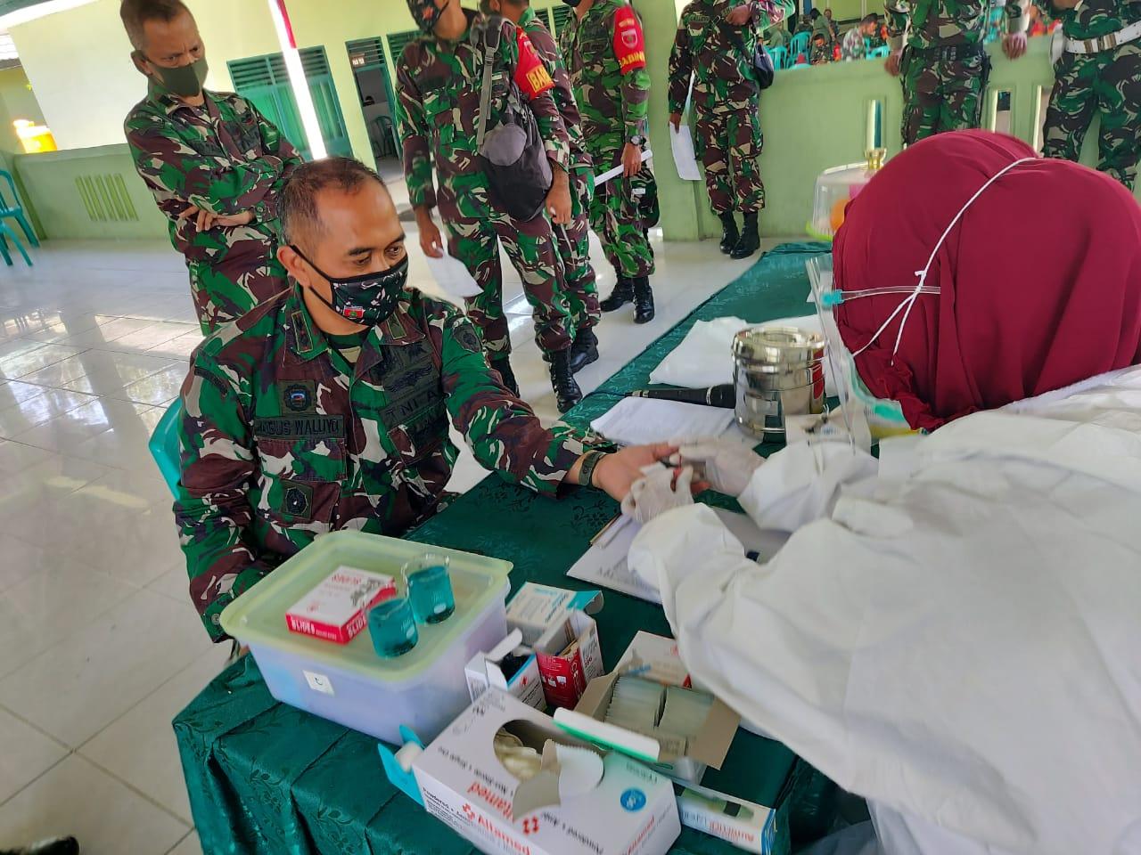 Dimasa Pandemi Covid19, TNI Menjadi Pendonor Darah Rutin di PMI Sultra
