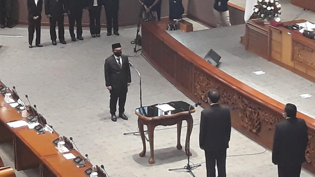 Haerul Saleh Resmi Jadi PAW Almarhum H Imran