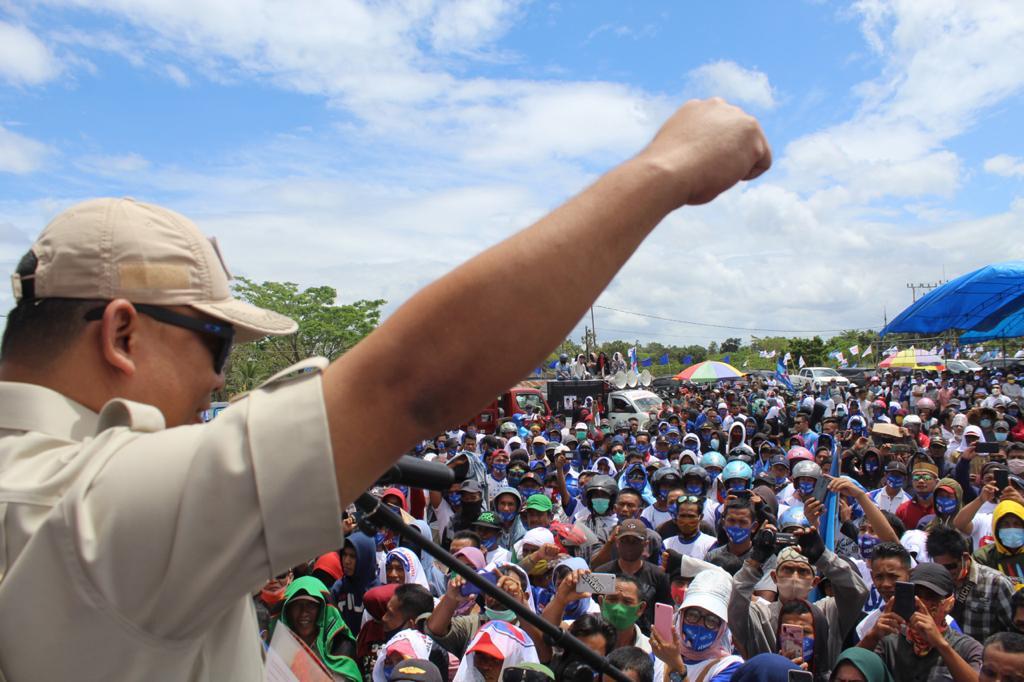 Ketua Gerindra Sultra : Kabarkan Pada Masyarakat, Endang-Wahyu Milik Rakyat