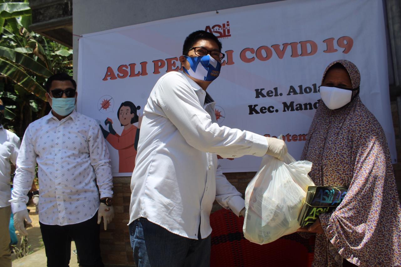 ASLI Peduli Covid19, Bagikan 1000 Paket Sembako di Kota Kendari