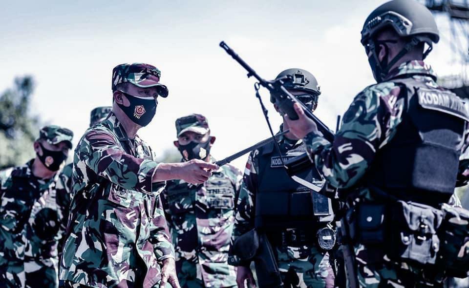 Bertugas ke Papua, Pangdam Hasanuddin Cek Kesiapan Yonif Raider 700/WYC