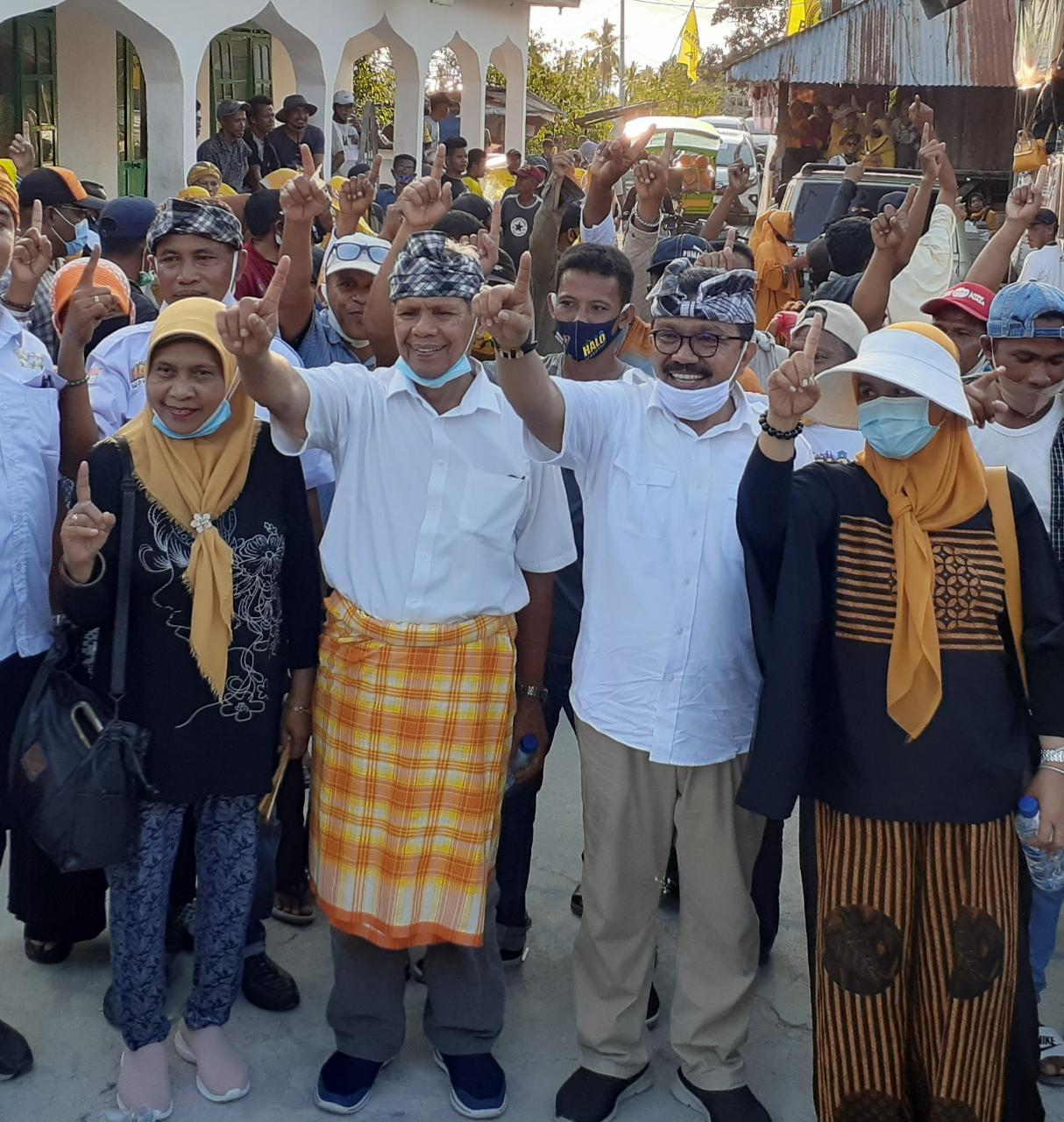 Kampanye di Binongko, Paslon HALO Disambut Ribuan Masyarakat