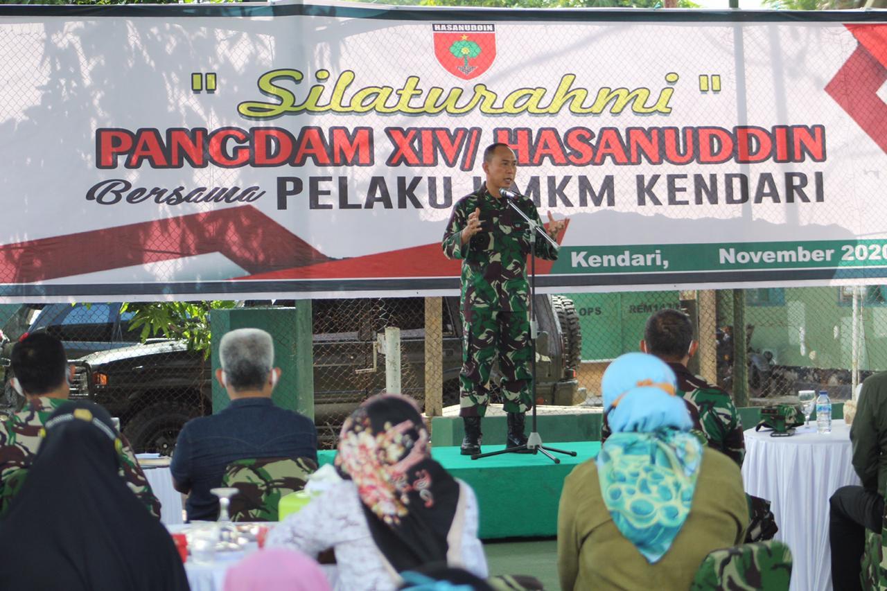 Pangdam Hasanuddin Silaturahmi Bersama Pelaku UMKM Kendari