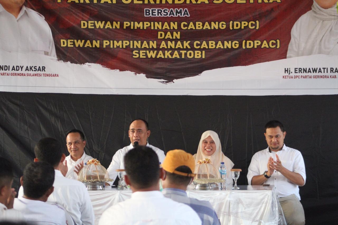 DPD Gerindra Sultra Perkuat DPC dan DPAC Wakatobi