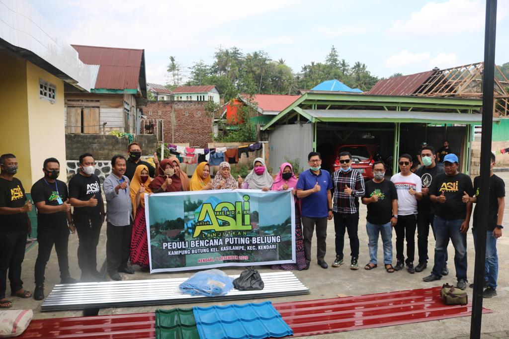 Gerak Cepat ASLI dan ASR, Bantu Korban Angin Puting Beliung di Kampung Butung