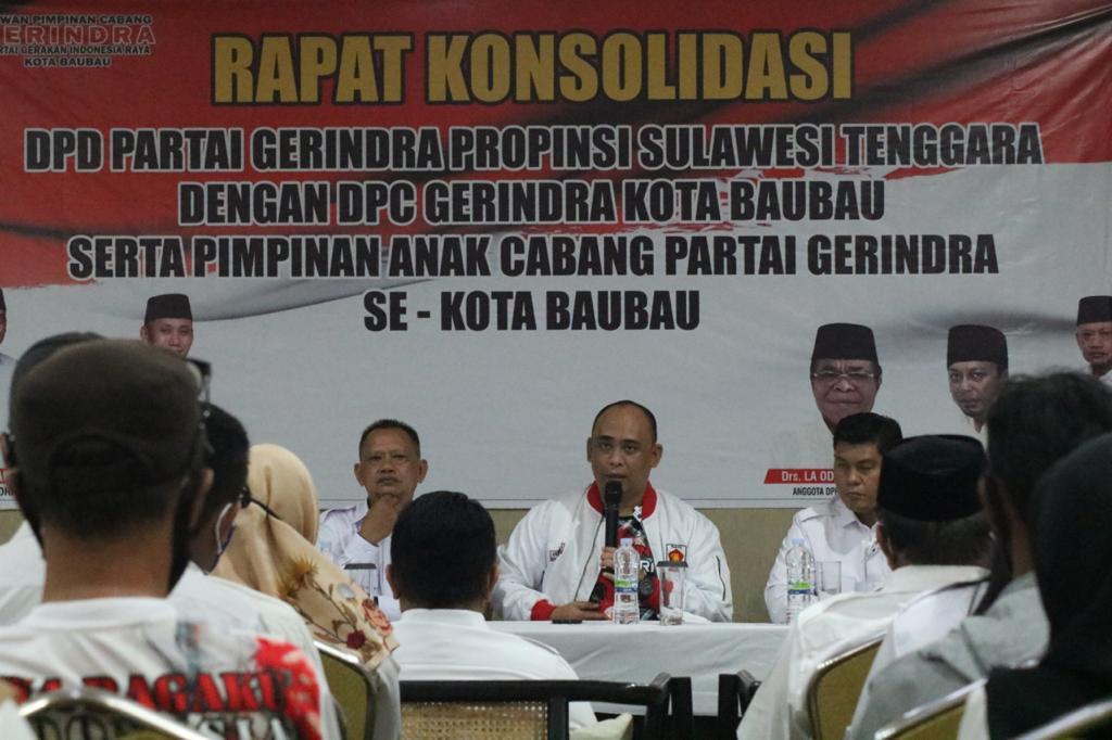 Konsolidasi di Baubau, Andi Ady Aksar Instruksikan Perkuat Struktur Partai, Ganti yang Tidak Aktif