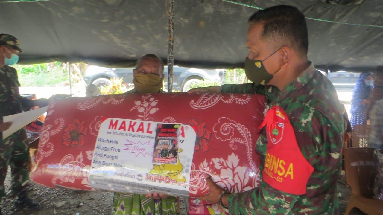 Pangdam Hasanuddin Peduli Korban Banjir Bandang di Kolut