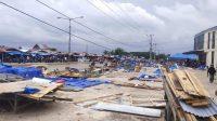 Lingkungan Pasar Laino Kembali Ditata, Sejumlah Pedagang Ditertibkan