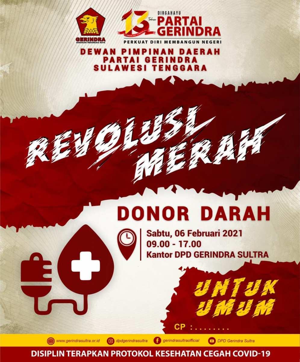 Revolusi Merah, Donasikan Darahmu Selamatkan Saudaramu