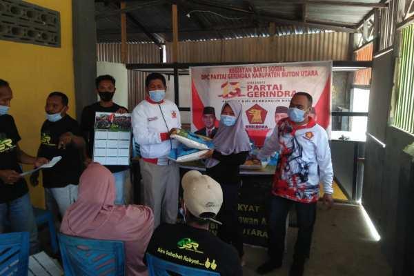 DPC Gerindra Butur Salurkan Bantuan ASR ke Pengurus DPC hingga PAC