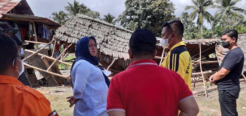 Belasan Rumah di Koltim Rusak Parah Akibat Diterjang Angin Beliung