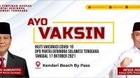 Bakti Untuk Negeri, Gerindra Sultra dan Tidar Gelar Vaksinasi Covid19 di Kendari