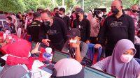 Warga Kendari Antusias Ikuti Jalan Santai dan Vaksinasi Covid19 bersama ASR, Gerindra dan Tidar