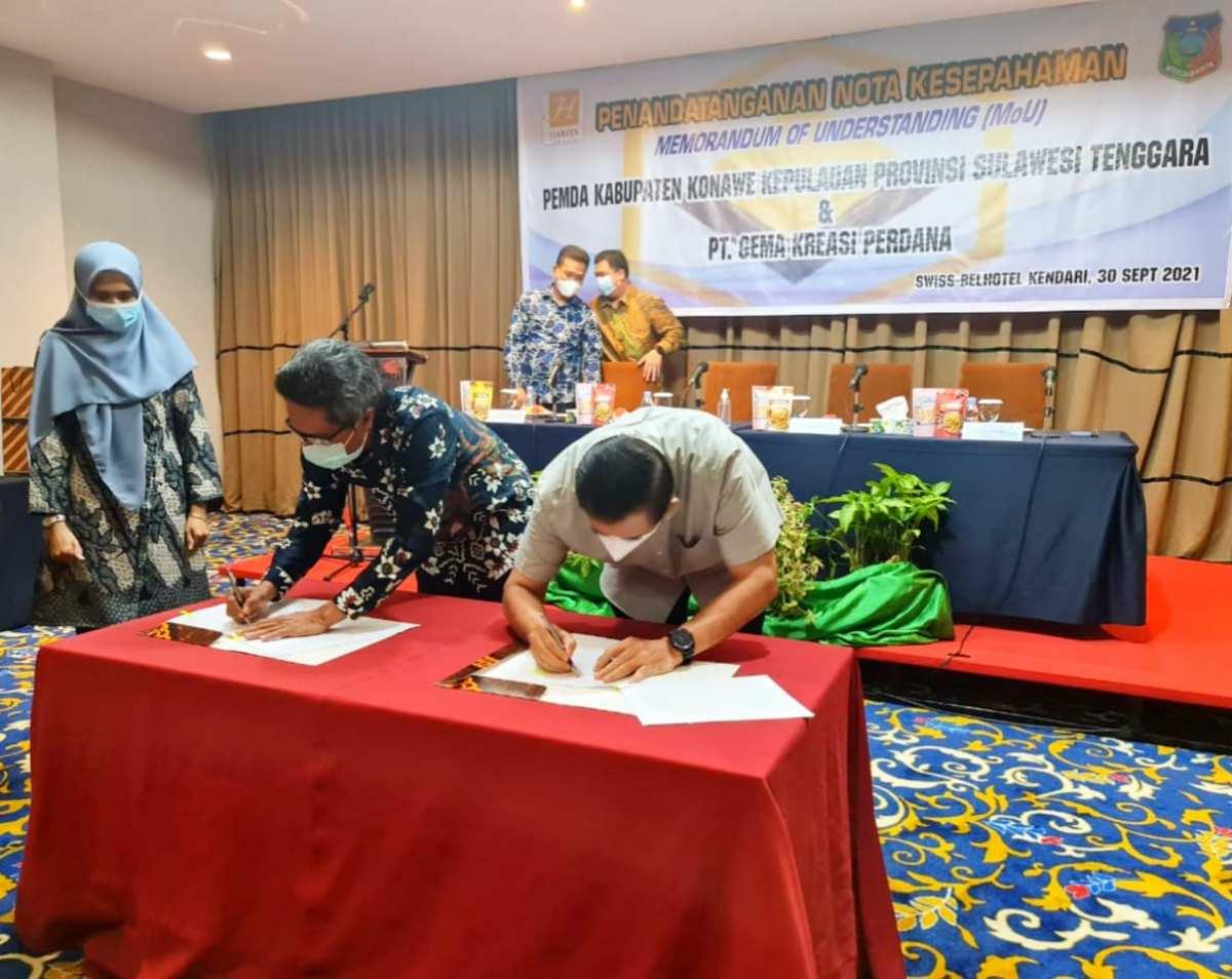 Pemda Konkep dan Perusahaan Tambang PT GKP Teken MoU